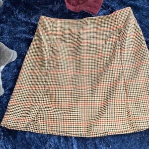 Super cute plaid tight mini skirt
